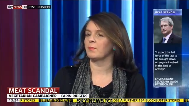 Karin Ridgers Veggievision TV the Vegetarian Voice During Horsemeat Scandal