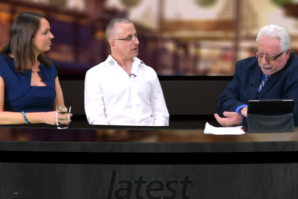 Tim Barford and Karin Ridgers on Live TV Chatting about Veganism
