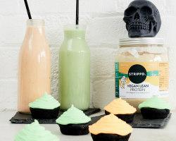 Pumpkin and Matcha Smoothie With Vegan Vanilla Protein