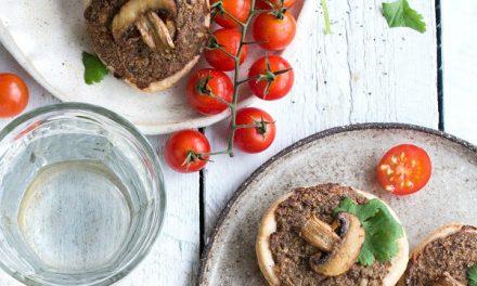 Vegan Mini Mushroom Quiche