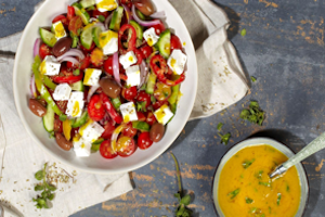 New Violife Greek Cheese and Dairy Free Crunchy Greek Salad Recipe