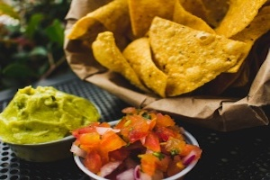 Homemade Tortilla Chips With Vegan Salsa