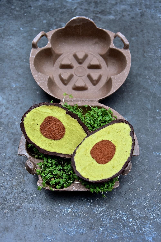 Vegan Avocado Chocolate Shell with Avocado Mousse