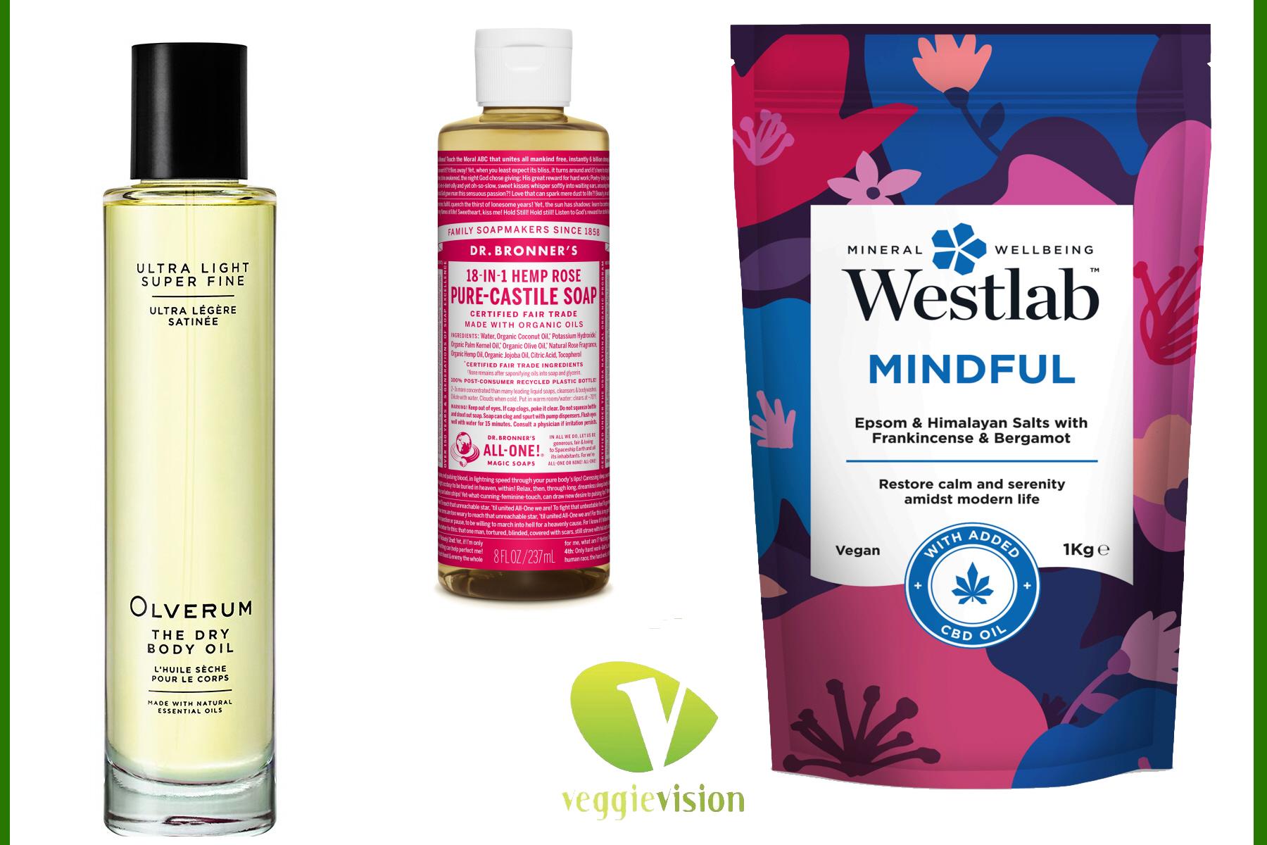 Quick Beauty Update – Olverum Dry Body Oil, Westlab Bath Salts & Dr. Bronner's Rose Pure-Castile Liquid Soap