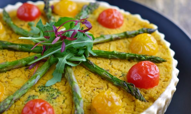 Asparagus, Potato & Broccoli Quiche From Vegetarian For Life.