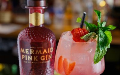 Add A Little Colour To Cocktail Hour With Some Mermaid Pink Gin.