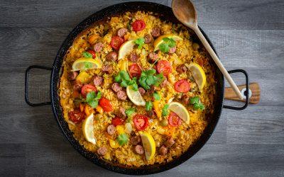 BBQ Vegan Sausage Paella