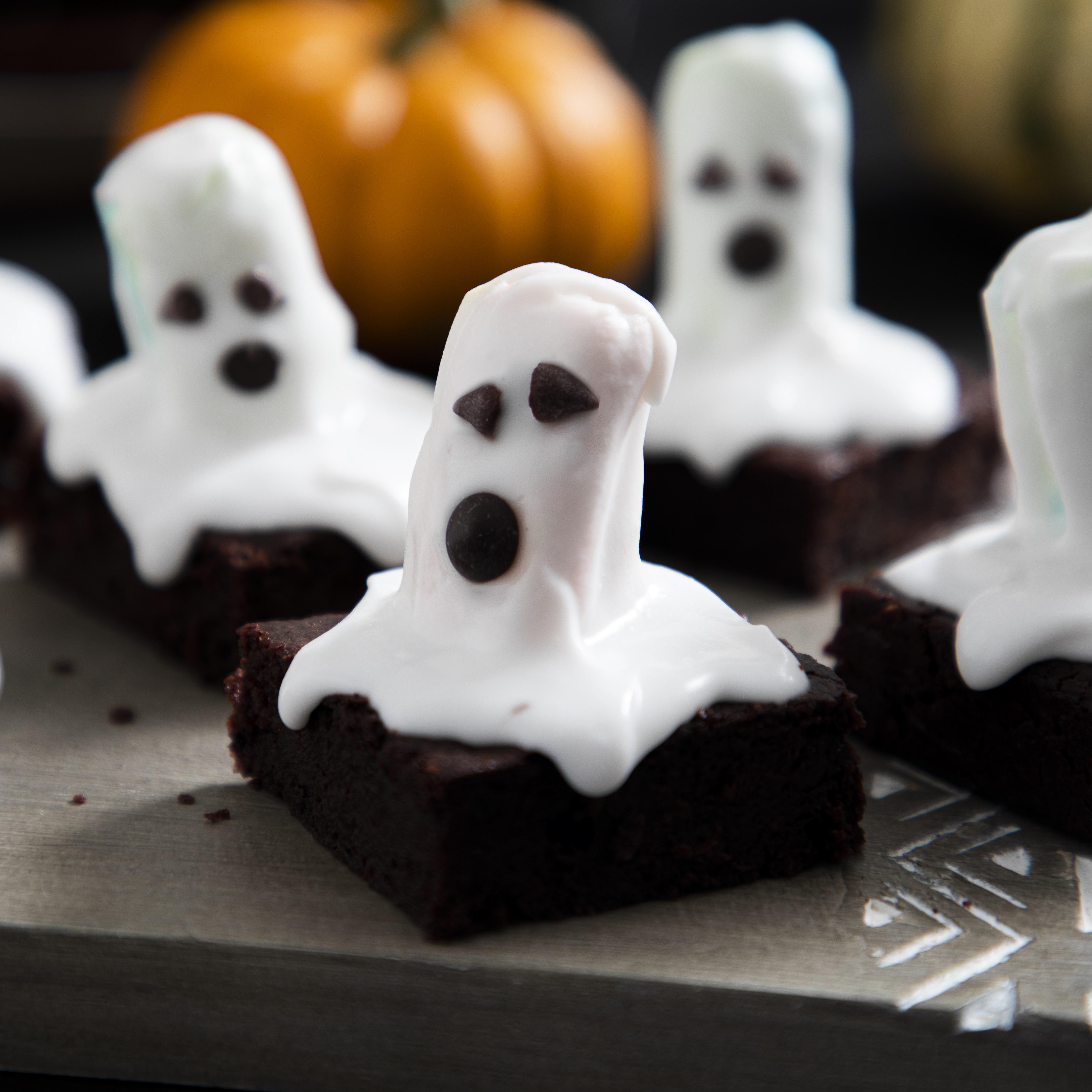 Spooky Vegan Halloween Brownies