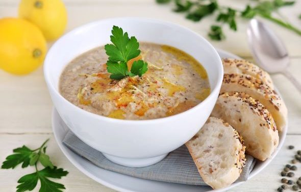 Smokey Aubergine Soup