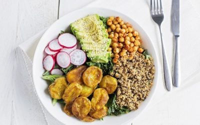 Turmeric Cornish New Potato and Quinoa Power Bowl
